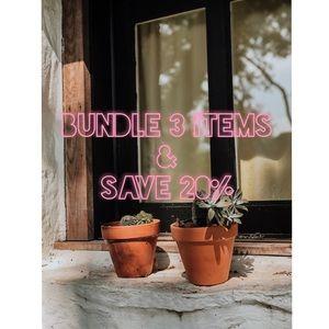 Bundle 3 Items & Save 20%!